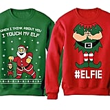 Funny Elf Holiday Sweatshirt Set
