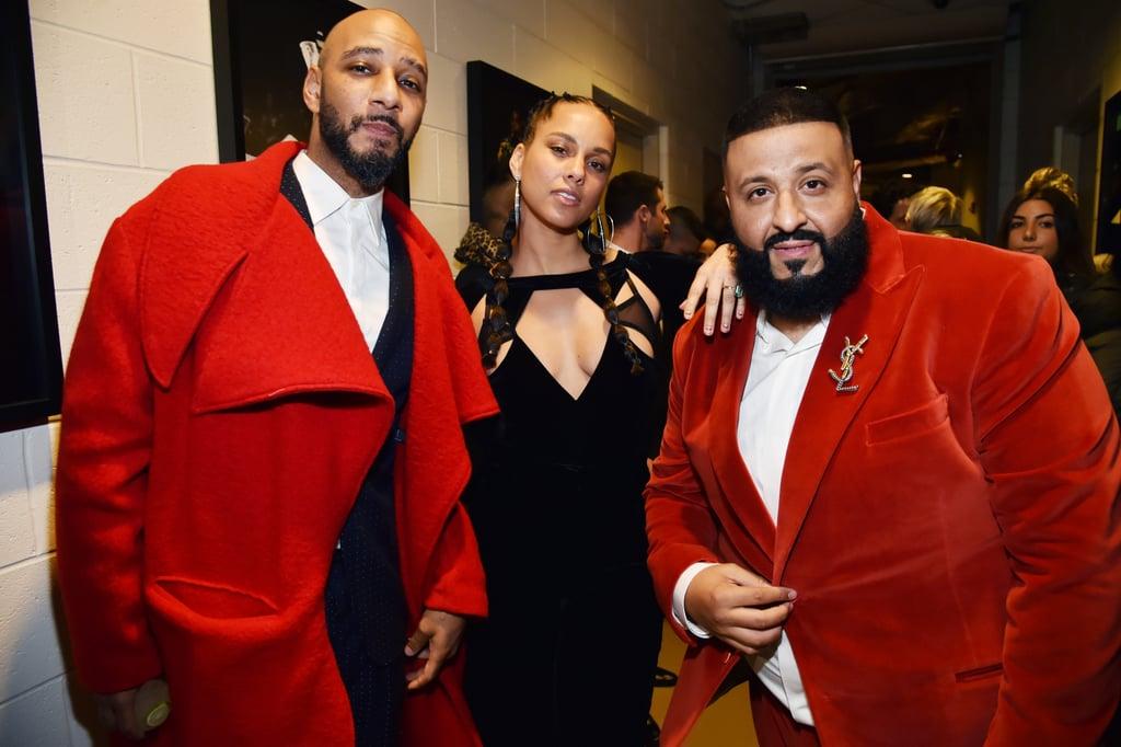 Pictured: Swizz Beatz, Alicia Keys, and DJ Khaled