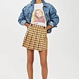 Check Kilt Mini Skirt