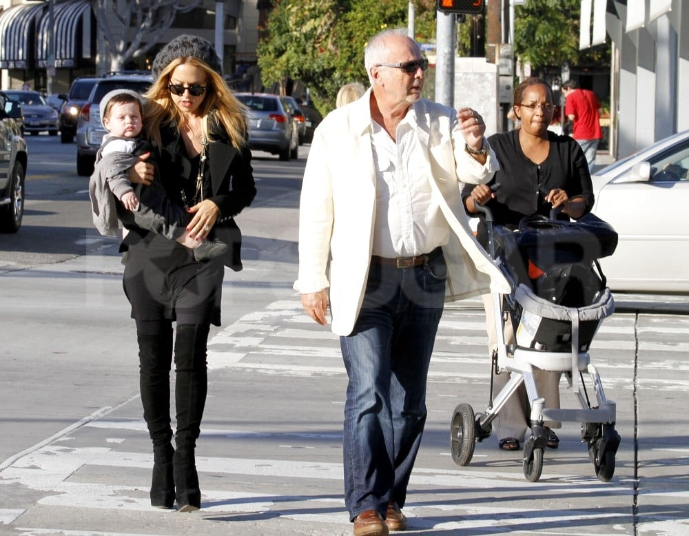 Rachel Zoe brought her father and her son to shop for art.