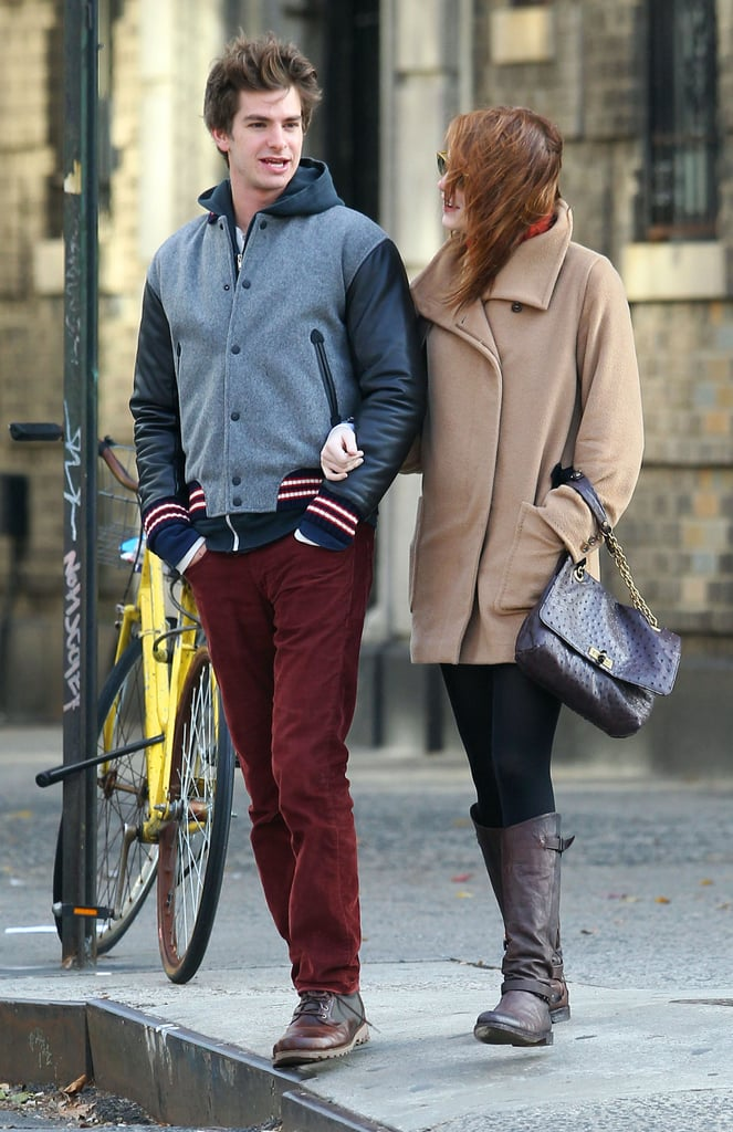 Emma Stone and Andrew Garfield had an afternoon date.