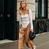 How to Wear a Ribbed Top During the Day