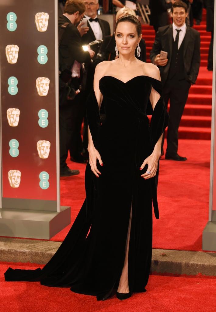 Angelina Jolie Ralph & Russo Dress at BAFTA Awards 2018 | POPSUGAR ...