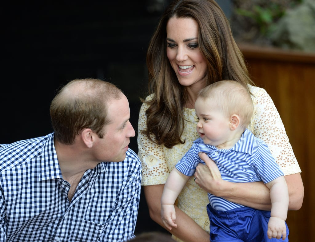 Prince George couldn't contain his excitement during his first Easter Sunday celebration at the zoo in Sydney, Australia, with Prince William and Kate Middleton.