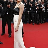 Emma Watson looked perfectly elegant in a black-and-white silk crepon Chanel Haute Couture dress when she took to the red carpet at the premiere of The Bling Ring.
