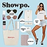 Showpo Showbag ($28) Includes:  Canvas tote  Notebook  Earring set