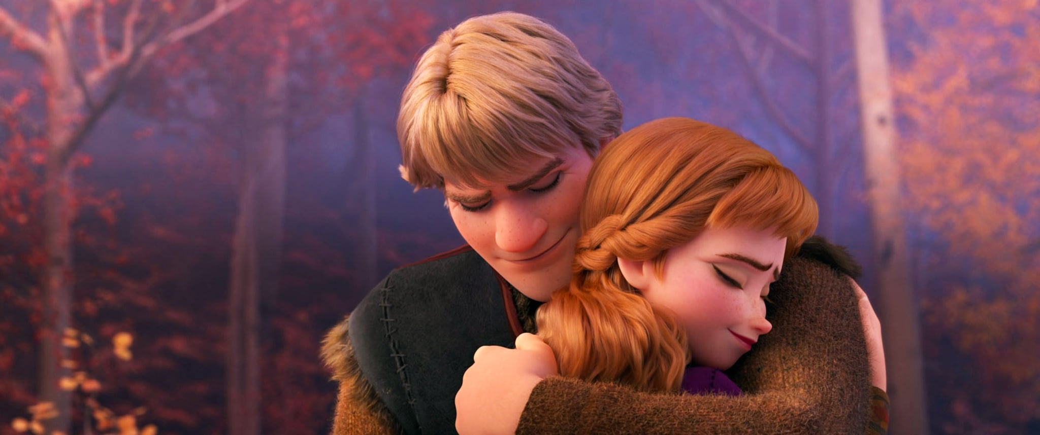 FROZEN II, (aka FROZEN 2), from left: Kristoff (voice: Jonathan Groff), Anna (voice: Kristen Bell), 2019.  Walt Disney Studios Motion Pictures / courtesy Everett Collection