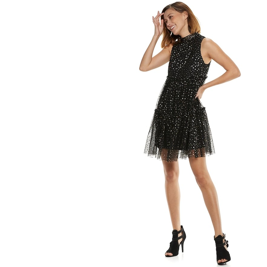 POPSUGAR Collection at Kohl's Metallic Star Tiered Party Dress