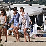 Kate Moss spent the day at the beach in St. Tropez.