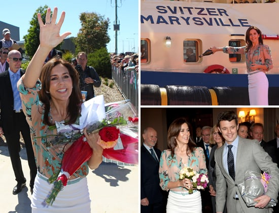Princess Mary and Prince Frederik Pictures in Melbourne Meeting Kids and Christening a Tugboat