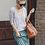 Ashley Olsen wore  a maxi skirt in the Big Apple.