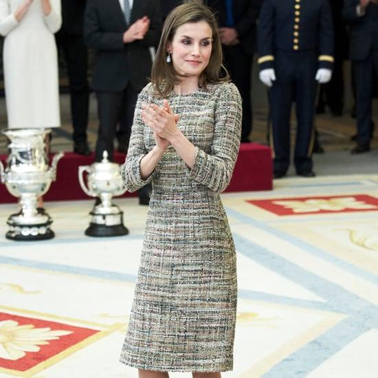Queen Letizia's Tweed Dress January 2017