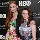 The onscreen sisters linked up for a picture at a March 2013 Game of Thrones event in NYC.