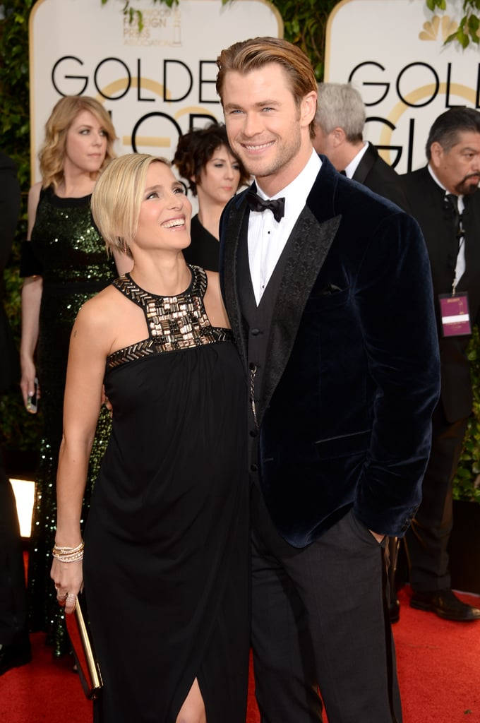 Chris Hemsworth and Elsa Pataky at the Golden Globes 2014