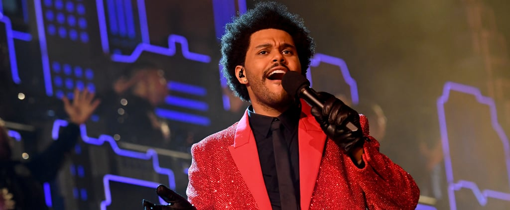 The Weeknd's Red Givenchy Suit at Super Bowl Halftime Show