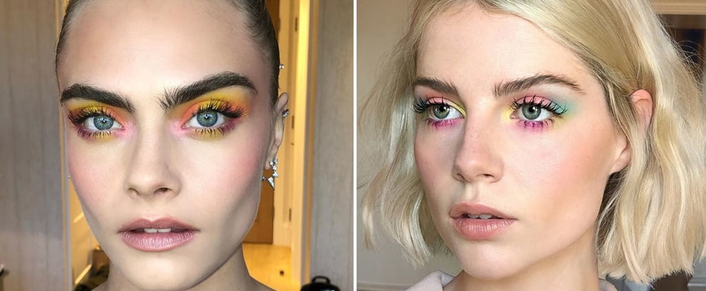 Cara Delevingne and Lucy Boynton Wear Tie-Dye Eye Makeup