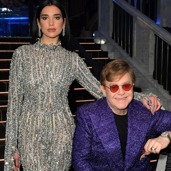 Dua Lipa and Elton John Duet at EJAF Oscars Preparty | 2021