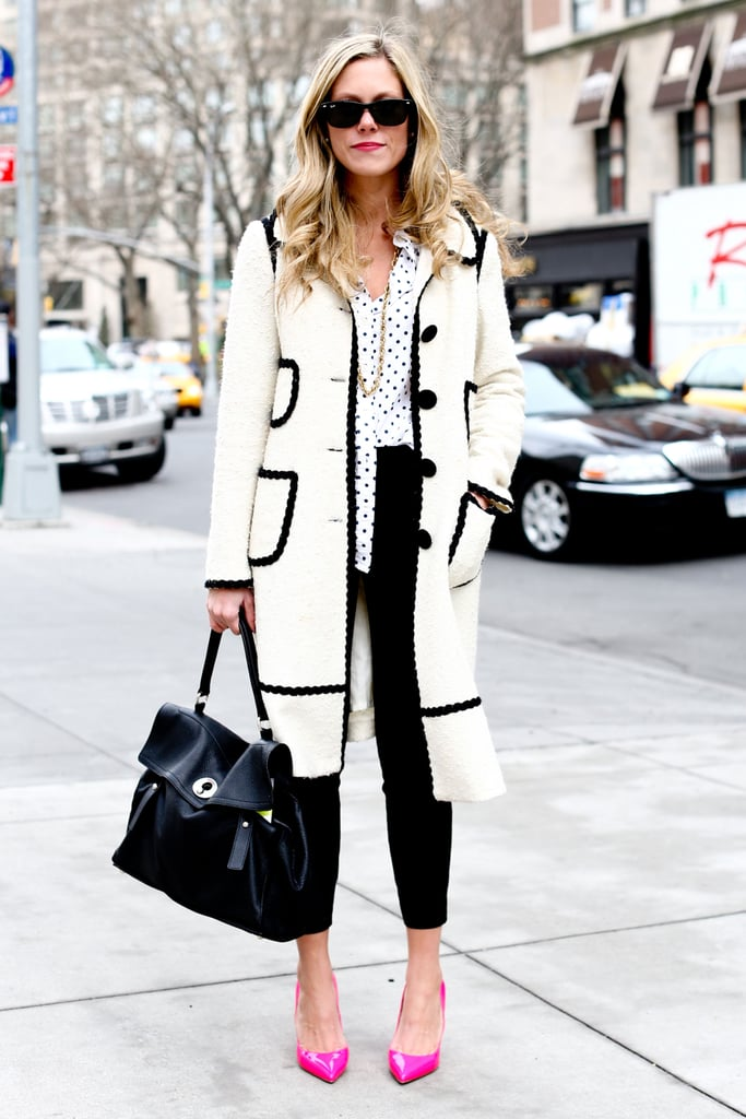 Never underestimate the chic effect of classic black and white.