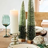 Tall Green Ombre Bottle Brush Tree