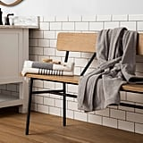 Hearth & Hand Wood & Steel Accent Bench