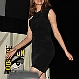 Emma Stone chose a LBD for her appearance at Comic-Con.