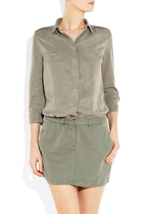 Maje's Slub-Twill Shirt Dress ($290)