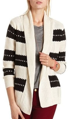 On a cold day, you can curl up to this Charlotte Russe thick-stripe knit cardigan ($25) or add it to skinny jeans and boots.