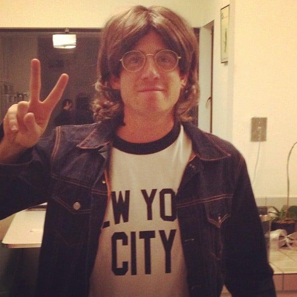 Bryan Greenberg dressed as John Lennon.  Source: Instagram user bryangreenberg