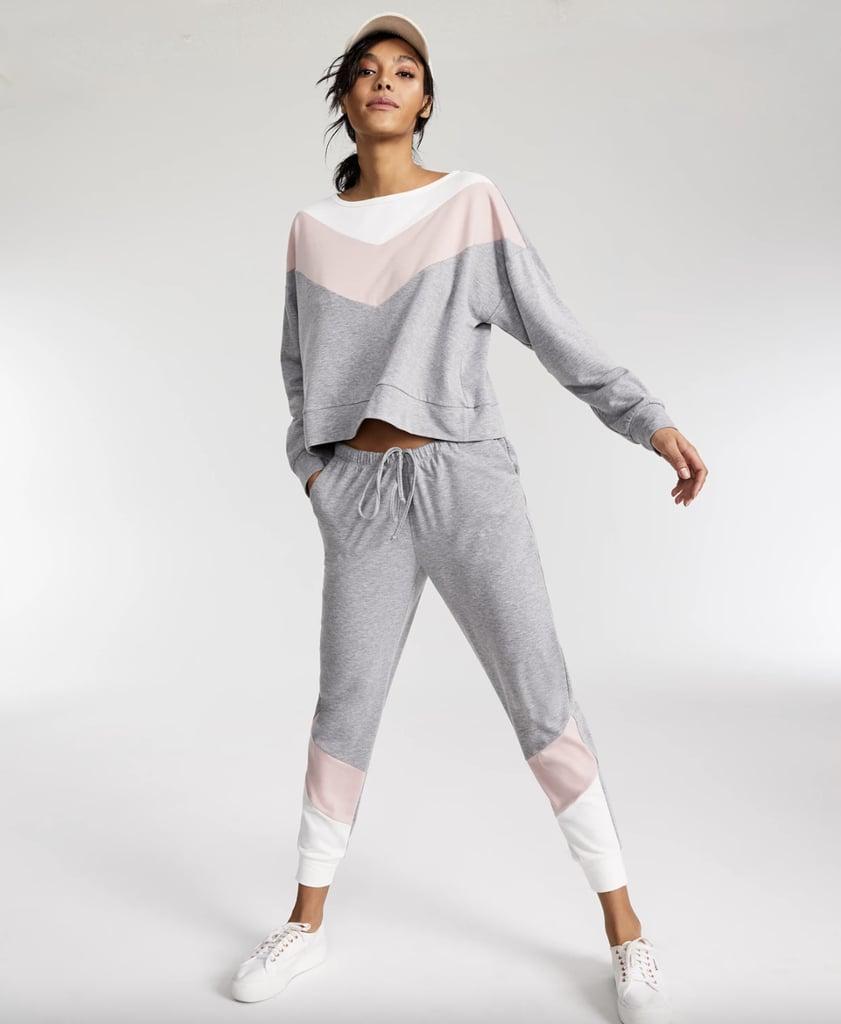 Jenni Chevron Stripe Loungewear Set