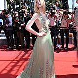 The Flowers on Elle Fanning's Gucci Dress