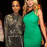 Kerry Washington and actress Rachel Nichols posed together during the show.