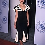 Natalie Portman in a Black-and-White Dress at a 2002 Event