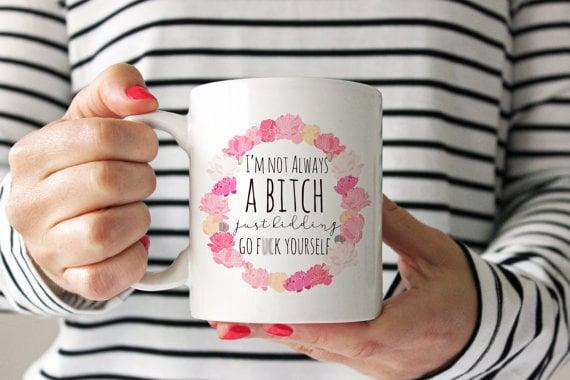 """""""Just Kidding"""" Mug"""