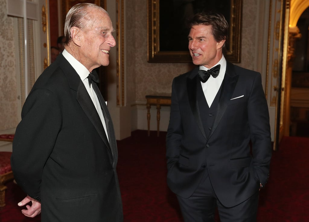 Prince Philip mingled with Tom Cruise during a dinner at Buckingham Palace in March.