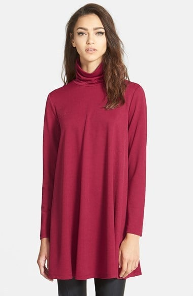 June & Hudson Long Sleeve Turtleneck Dress