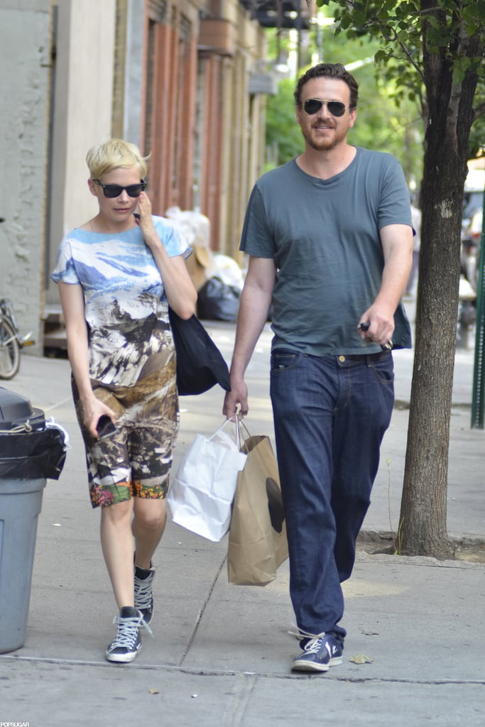 Michelle Williams shopping in Brooklyn with Jason Segel.