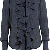 Ellery Linen Blouse with Ruffles ($905)