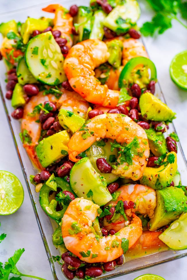 Lime-Cilantro Shrimp and Black Bean Salad