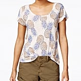 A twist on a classic white t-shirt, this can be dressed up and down.  Lucky Brand Pineapple-Print T-Shirt ($30, originally $40)