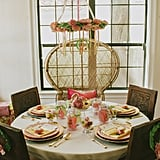 The sophisticated table was set for five.