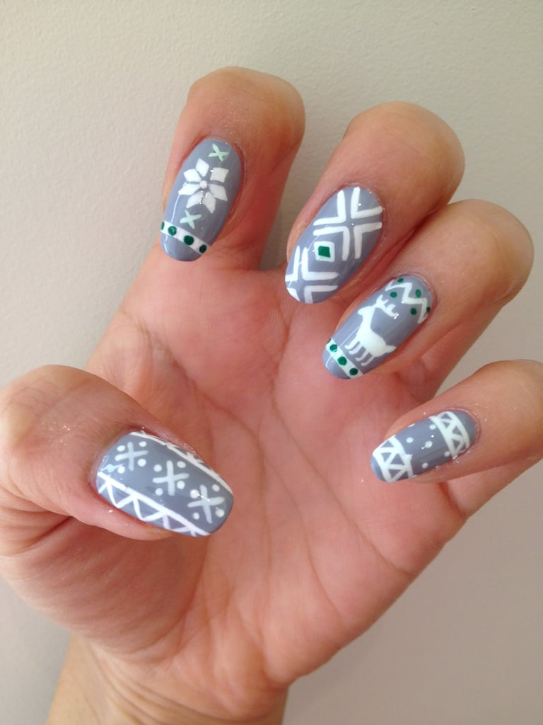 Ugly sweater nail art popsugar beauty this ugly sweater nail art is actually supercute prinsesfo Gallery