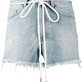 Off-White Drawstring Denim Shorts