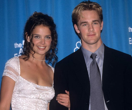 Katie Holmes took James Van Der Beek as her date in 1998.