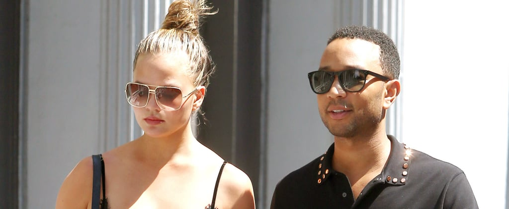 Chrissy Teigen Shows a Little Skin While Out and About With John Legend