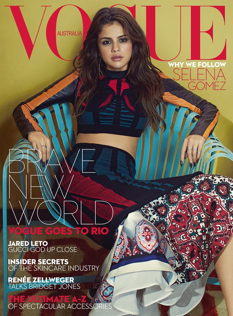 """Selena Gomez looks gorgeous on the cover of Vogue Australia's September issue, and in the magazine, the singer gets refreshingly candid about her Revival album and what it's like having her personal life played out in the public eye. She also reveals why she chose to make """"Good For You"""" the first single off of the album instead of """"Same Old Love,"""" which is what the studio originally wanted. Check out the interview's highlights below, before the magazine hits stands on Aug. 15."""