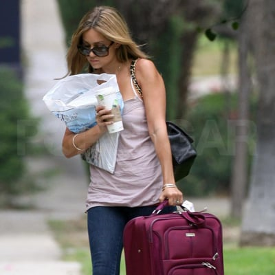 Lauren Conrad Carries Her Luggage Home