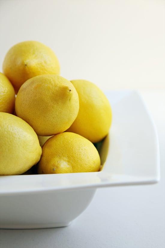 Using lemon on marble or limestone surfaces.