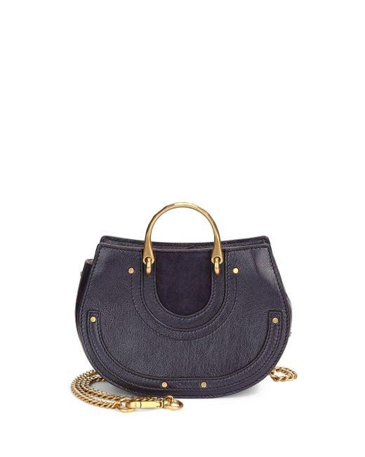 Chloé Pixie Mini Round Leather Shoulder Bag