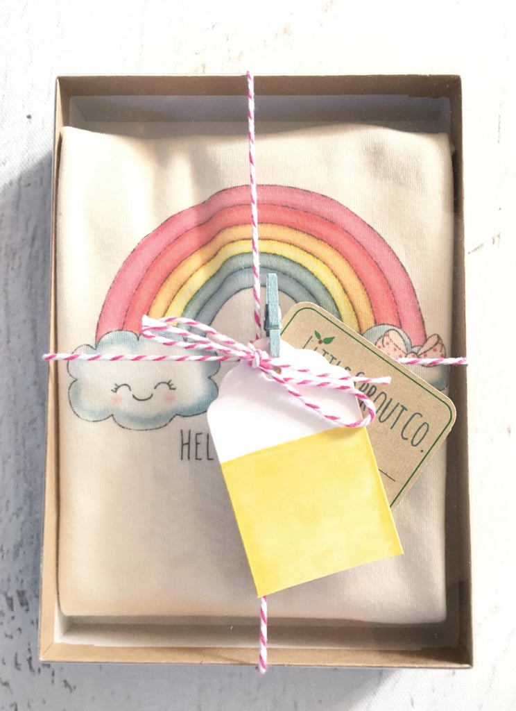 Rainbow Baby Organic Cotton Hello Sunshine Onesie