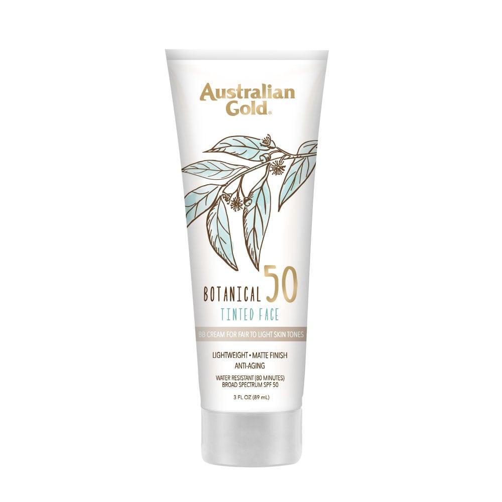 Australian Gold Botanical SPF 50 Tinted Face Sunscreen Lotion — Fair to Light